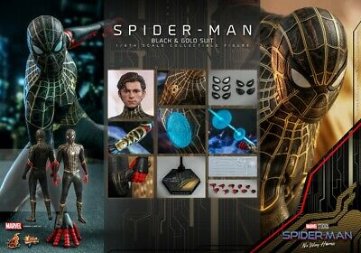 $ CDN424.12 • Buy Hot Toys Spider-Man No Way Home 1/6 Spider-Man (Black & Gold Suit) Figure MMS604