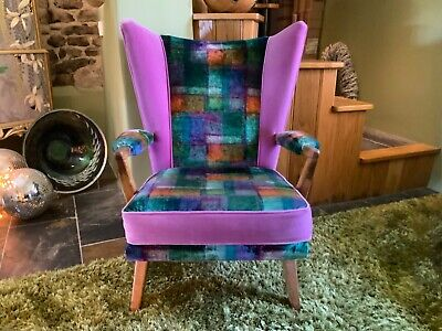 £325 • Buy  Mid Century Vintage Probably Howard Keith Armchair Chair Designer Guild Velvets