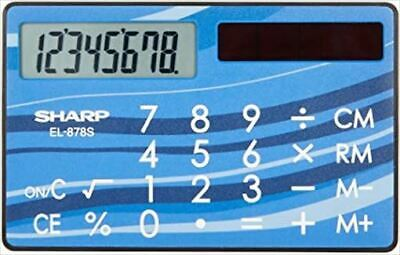 £26.45 • Buy Sharp Calculator EL-878S-X Card / Credit Card Size Compact JAPAN W/tracking New