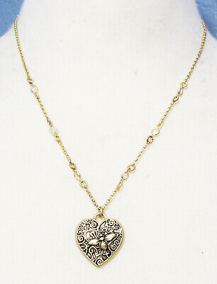 $ CDN2.83 • Buy Lia Sophia Jewelry Grove Cut Crystals Necklace In Antiqued Gold RV$58