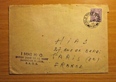 $ CDN19.99 • Buy Judaica 1948 Cover Sent From HIAS H.Q British Zone In Germay To HIAS France