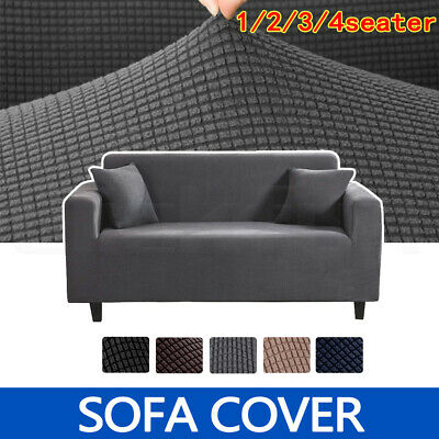 AU28.99 • Buy Sofa Cover Couch Lounge Protector Slipcovers 1/2/3/4 Seater Super Stretch Covers