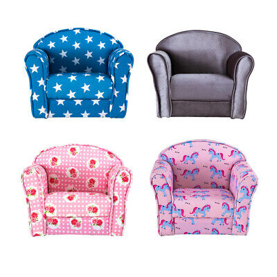 £46.99 • Buy 4 Colours Kids Children Chair Armchair Fabric Upholstered Floor Toddler Chair