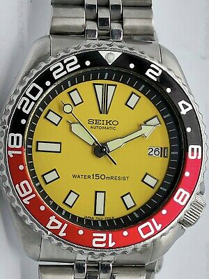 $ CDN107.61 • Buy Vintage Seiko Diver Automatic Watch 7002-700a Lovely Yellow Face Mod 100389