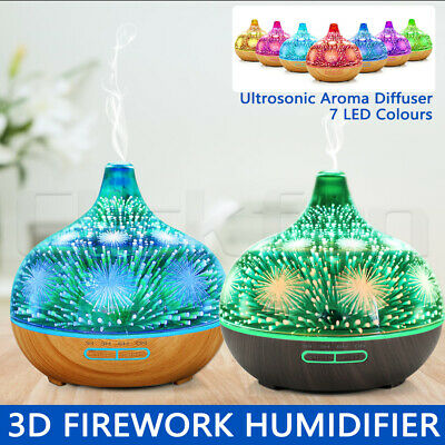 AU26.49 • Buy 3D Air Humidifier 400ml Diffuser Aroma Aromatherapy LED Essential Oil Ultrasonic