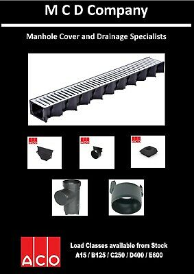 £7 • Buy Aco Hexdrain Drainage Channels And Fittings Galvanized Steel Grates GENUINE ACO