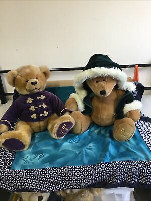 £22 • Buy Two Harrods Christmas Teddy Bears 2000 And 2001  IN GOOD CONDITION