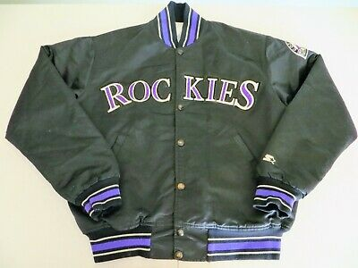$50 • Buy Vtg 90's Colorado Rockies Starter Diamond Collection Satin Quilt Lined Jacket M