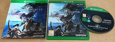 AU14.93 • Buy Monster Hunter World For Microsoft XBOX One Complete With Holographic Case Inlay