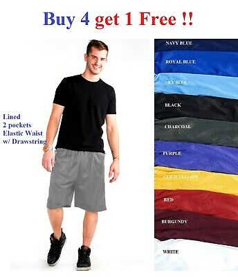 $8.95 • Buy Mens Mesh Shorts Basketball Athletic Jersey Gym Workout Fitness S-5x