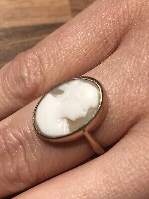 £84 • Buy Cameo Ring 9ct Gold Size N