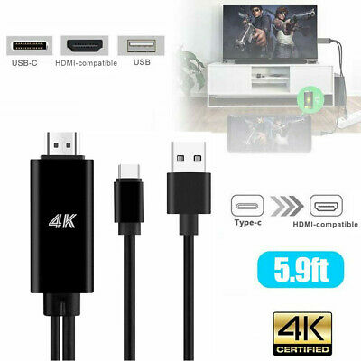 $15.19 • Buy USB-C Type C To HDMI HDTV TV Cable Adapter For Galaxy S10 Note 9 MacBook Samsung