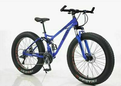 AU496 • Buy 26  Large Fat Tire Bicycle Full Suspension Downhill Beach Mountain Bike 21 Speed