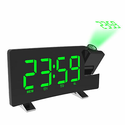 £18.93 • Buy LED Projection Alarm Clock FM Radio Snooze Adjustable Time Projector Dimmer C2Y0