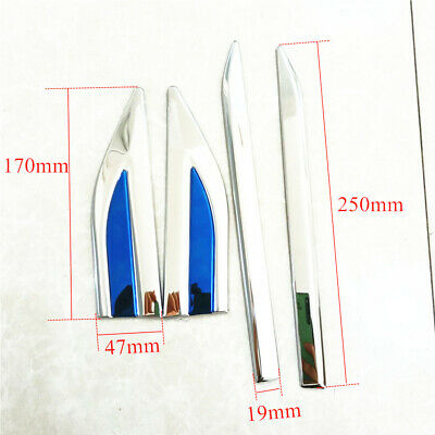 AU25.32 • Buy 4PCS Front Side Door Fender Cover Trim Chrome Stainless Steel Car Accessories