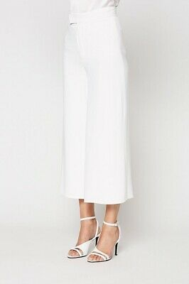 AU250 • Buy SCANLAN THEODORE BNWT $450 New White Crepe Culottes Pants Trousers Size 6