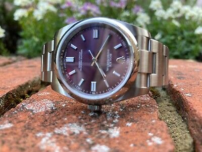 $ CDN9953.87 • Buy Rolex Oyster Perpetual 116000  Red Grape  Box And Papers 2019