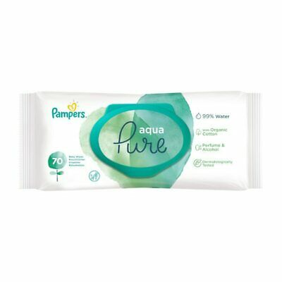 £26.95 • Buy 10 X PAMPERS Aqua Pure Wipes (70 Pack) **£2.70/pack**