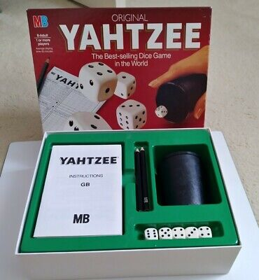 £7 • Buy MB Games Vintage 1982 Original Yahtzee Dice Game Complete In Good Condition.