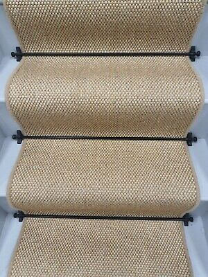 £99.99 • Buy Skinny Sisal Natural And Grey Stair Runner 6.5mx40cm  To Cover Up To 14 Stairs