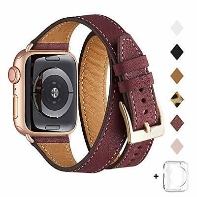 AU45.26 • Buy Bestig Band Compatible For Apple Watch 38mm 40mm Genuine Leather Double Tour ...