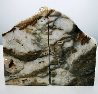 £39.99 • Buy Stunning Heavy Large Tree  Agate Geode Bookends, Healing Crystal