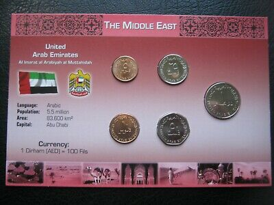 £8.99 • Buy United Arab Emirates 1996-2011 Coin Collection Set: 5 Fils - 1 Dirham ~ Carded