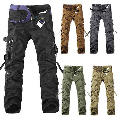 $43.22 • Buy For Men's Military Army Combat Trousers Tactical Airsoft Work Camo Cargo Pants