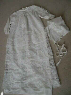 £12 • Buy Mothercare Vintage1970`s Baby Christening Gown & Bonnet