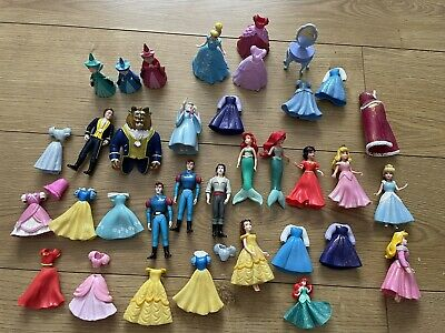 £17.99 • Buy Disney Princess Dress Up Dolls - MagiClip & Polly Pocket Style Rubber Clothes