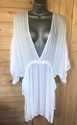 AU7.47 • Buy Asos Curve White Cover Up Size 20