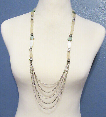 $ CDN0.13 • Buy Lia Sophia Jewelry Freshwater Mother Of Pearl Necklace In Silver RV$98
