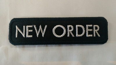 £3.24 • Buy NEW ORDER Patch Embroidered Iron/Sew On Joy Division The Cure Depeche Mode 80s