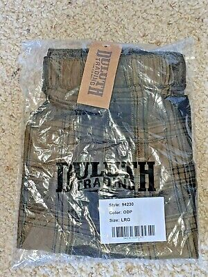 $17 • Buy Duluth Trading Free Swingn' Flannel Boxer, Men's Size L, Green Plaid