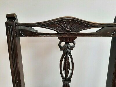 AU60 • Buy Vintage Chair Circa 1930s/1940s With Carved Timber & Tapestry Seat