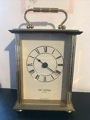 £7.99 • Buy Superb Wm William Widdop Solid Brass Carriage Clock Est 1883 Made In Germany