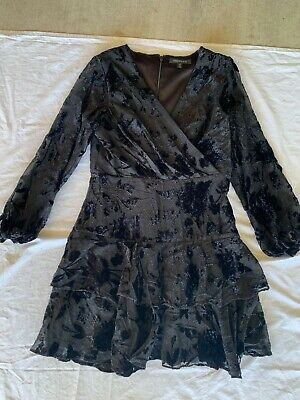 AU10 • Buy Forever New Black Embossed Party Dress Size 12