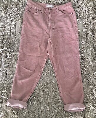 £3 • Buy Topshop Corduroy Cord Mom Jeans Pink W28 L30 Size 10 High Waisted RRP £40