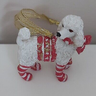 £7.99 • Buy White Poodle Christmas Tree Figurine Decoration/Ornament Dog Present/Gift