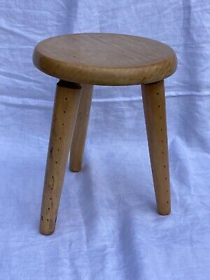 $48.64 • Buy Vintage Rustic Wooden Milking Stool 3 Legs Farmhouse Lovely Aged Condition Dutch