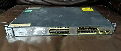 £8.50 • Buy Sold As Seen - Cisco Catalyst 3750 Series PoE-24 Port Switch