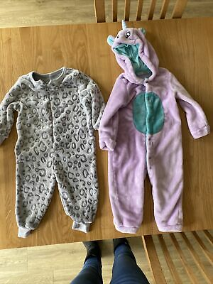 £6.50 • Buy Girls Onsies - 1 X Age 12-18 Month & 1 X 18 Month-2years