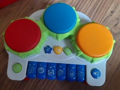 £2.50 • Buy Pup Go Baby Musical 2in1 Drum Piano Toy Music Songs Animal Sounds Light 3+