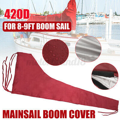 $42.50 • Buy 3M Mainsail Boom Cover Protector Waterproof Fabric Red Fit For 8-9ft Boom