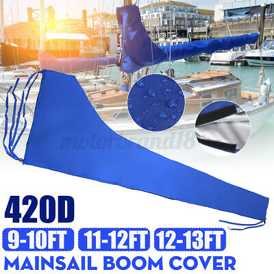 $35.09 • Buy Fits For 9-10ft/11-12ft -13ft Mainsail Boom Cover Sail Protector Waterproof