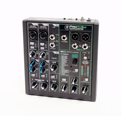 $119.99 • Buy Mackie ProFX6v3 6 Channel Professional Effects Mixer With USB