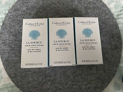 £22.95 • Buy Crabtree & Evelyn La Source Nail Cuticle Therapy Cream 15g Set Of 3 New With Box