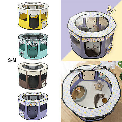 £20.32 • Buy Portable Dog Cat Playpen Durable Kennel Mesh Cage Removable Top Kitten House