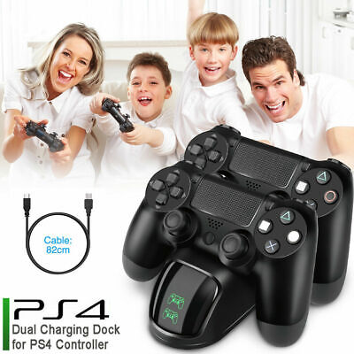 AU20.55 • Buy For PS4 Dual Controller Quick Charger Charging Dock Base Dualshock Gamepad