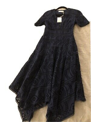 AU360 • Buy Zimmermann Paradiso Navy Embroidered Dress